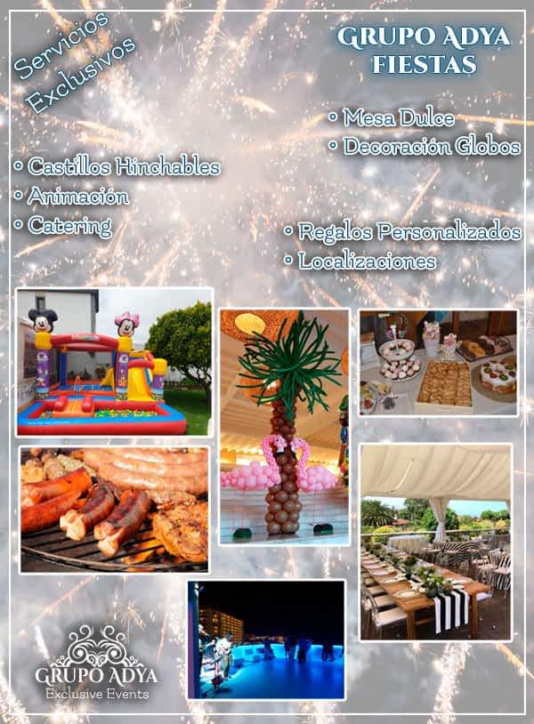 Servicios Exclusivos Grupo Adya | Fiestas