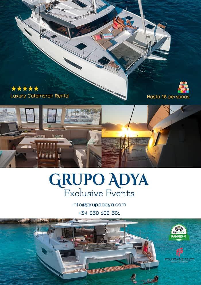 Alquiler catamarán exclusivo   Grupo Adya